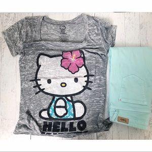 Sanrio- Hello Kitty grey t-shirt